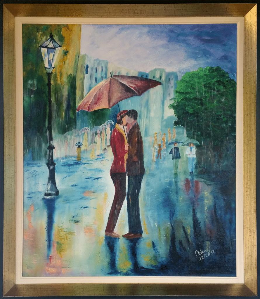 quadro-casal-na-chuva-artista-ceres-vender-comprar-gao-galeria-de-arte-online-gao
